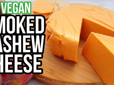 Smoked Cashew Vegan Cheese Recipe - Easy and healthy plant-based cheese