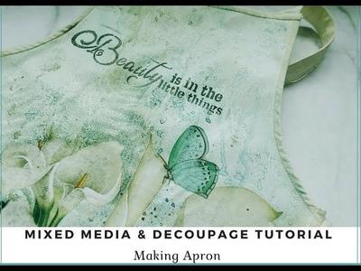 Studio Decoupage's Lesson Basic Mixed Media Tutorial on PVC Apron