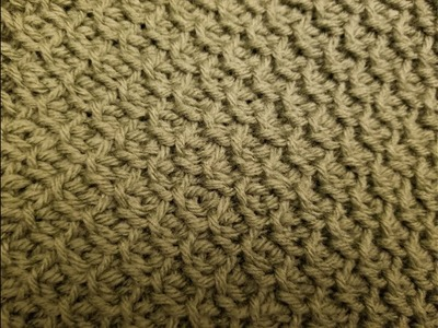 The Tunisian Honeycomb Stitch Crochet Tutorial!
