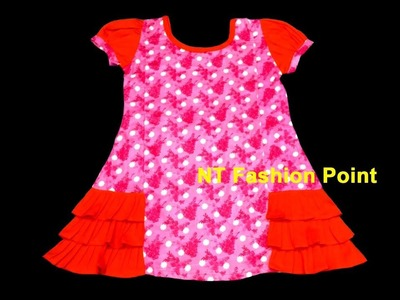 Trending life style summer baby frock cutting & stitching step by step