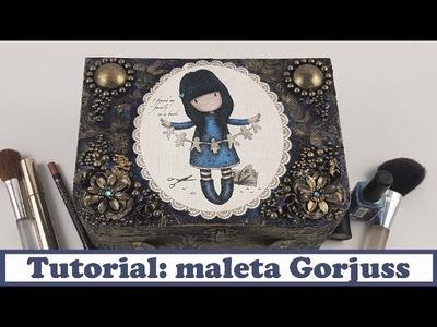 Tutorial Decoupage y Mixed Media: Maleta Gorjuss, colaboración Conideade