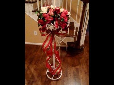 Valentine's 2018 Day Faux Flower Wedding Pedestal Arrangement