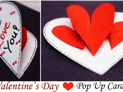 Valentine's Day Card | Pop Up Heart - I Love You Card