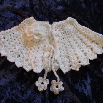 Victorian Style Capelet/Prom Cape White