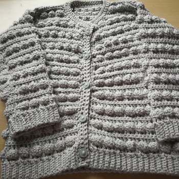 Young girls cardigan age 6/7 year old handmade