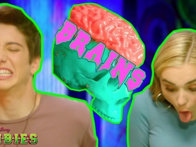 Zombie Brain Food Challenge ???? | ZOMBIES | Disney Channel