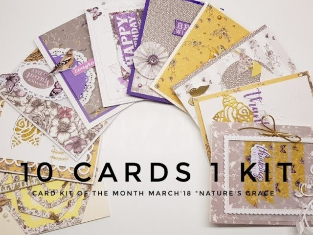 10 Cards 1 Kit |Crafty Ola Store Card kit of the Month'18 ''Nature's Grace''