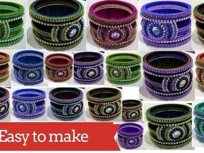 #119 How to make Silk Thread Designer Bangle || Bangle || Bracelet || Diy || Jewellery Making
