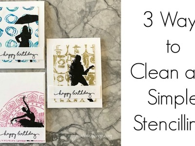 3 Ways to Clean and Simple Stencilling