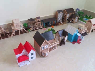 Amazing ! 13 Simple  Popsicle Stick  house - Cardboard House - Project for kids