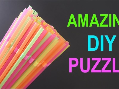 AMAZING DIY PUZZLE and Activity FOR KIDS DEVELOPMENT using Drinking Straws