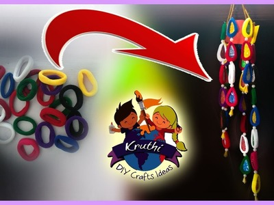 Best out of Waste From Hair Rubber Bands Crafts Idea || Kruhi DIY Craft Ideas
