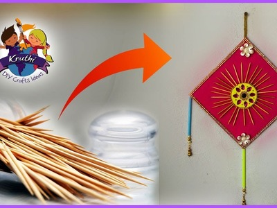 Best way to use Toothpick into a wall Hanging || easy craft || Kruthi DIY Craft Ideas