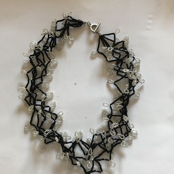 Black Trans Beads Necklace