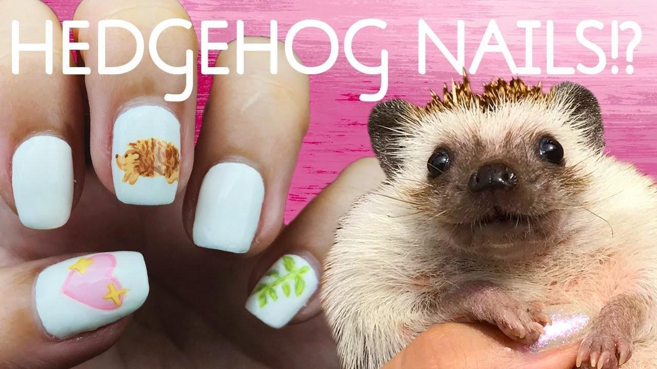 Cute Hedgehog Emoji Nail Art Diy Tutorial