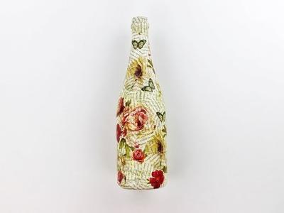 Decoupage bottle - Decoupage Tutorial - DIY
