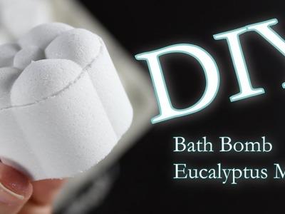 DIY Bath Bomb | How To Make Bath Bombs | Therapeutic Eucalyptus Mint | untidyartist