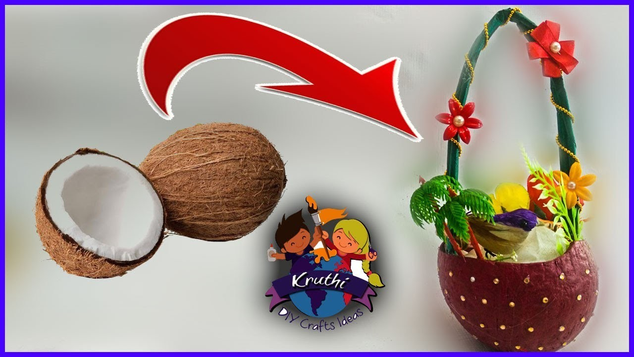 Diy Bird Nest Making Coconut Shell Craft Making Best Out Of