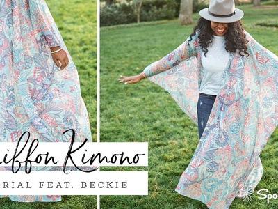 DIY Chiffon Kimono tutorial   Spoonflower
