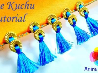 DIY Double Bead Saree Kuchu Tutorial Silkthread Tassel Tutorial