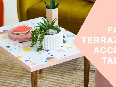 DIY Faux Terrazzo Accent Coffee Table