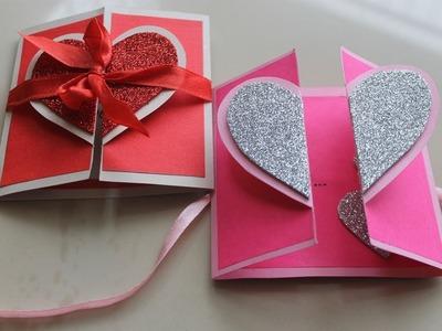 DIY Heart Greeting Card. Handmade Card Tutorial