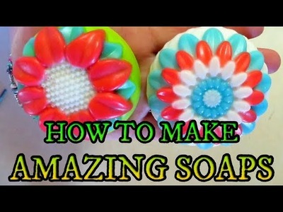 DIY HOW TO MAKE AMAZING MELT AND POUR SOAPS TUTORIAL