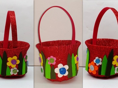 Diy How to make Foam basket