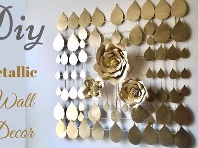 Diy Large Metallic Wall Decor| Inexpensive Wall Decorating Idea!