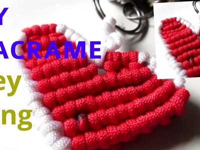 DIY_Macrame heart shape key ring _EASY TO MAKE. full tutorial in hindi