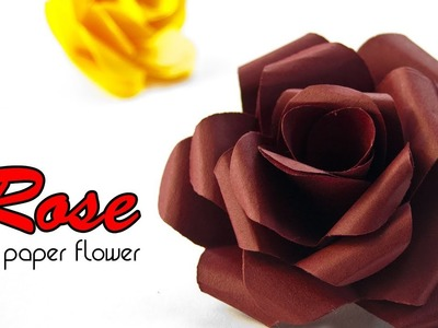 DIY Paper Rose - Easy Paper craft Rose - Easy Tutorial