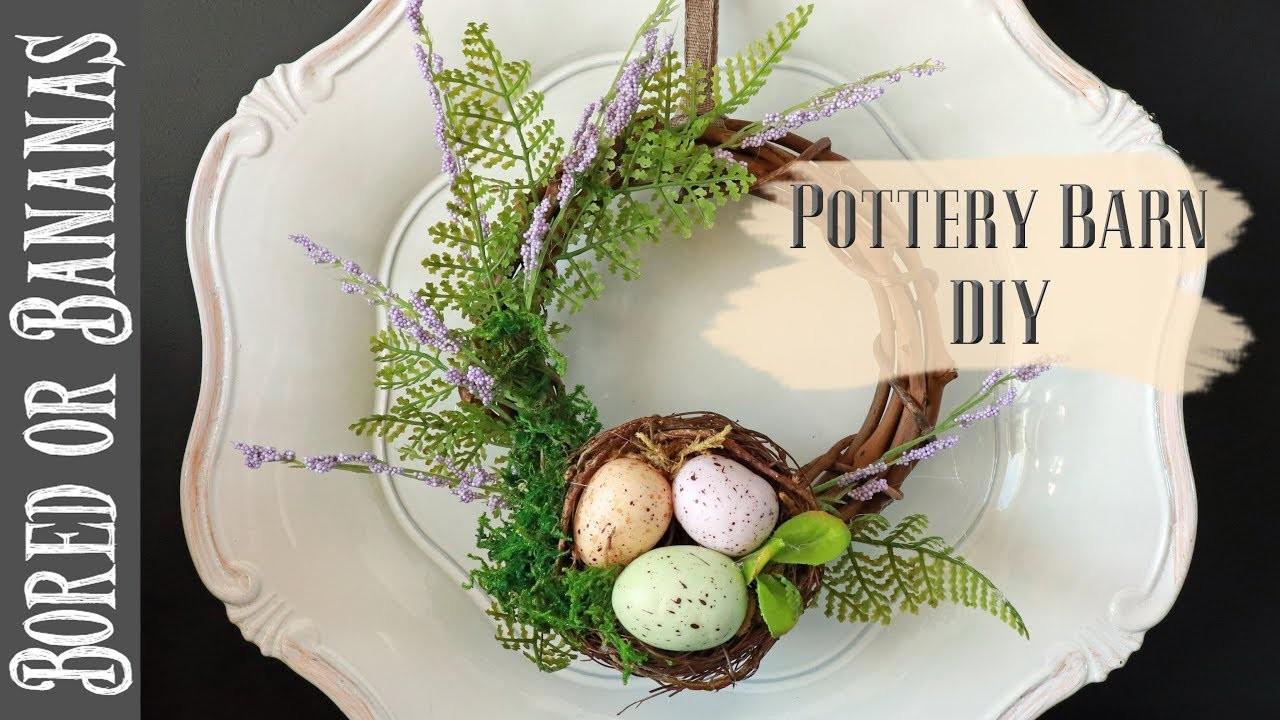 DIY POTTERY BARN NEST WREATH {DIY Floral Challenge}