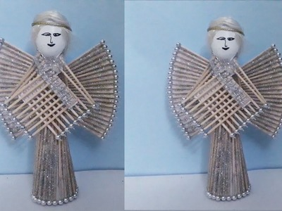 DIY Recycling Art and Craft :How To Make Toothpick Angel