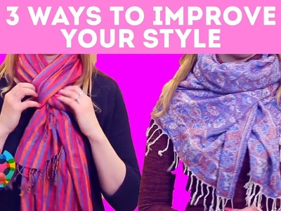 DIY Tutorial on How To Wear A Scarf In 10 Different Ways  | A+ hacks