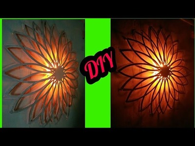Diy wall decor with lights.diy home decor.diy paper lamp.paper wall hanging.wall art.art my passion