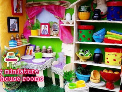 Doll making for kids miniature house of doll dollhouse kit diy craft ideas