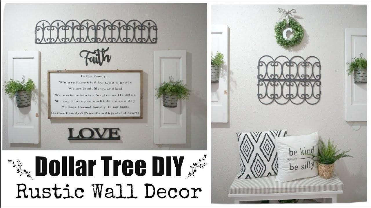 DOLLAR TREE DIY RUSTIC WALL DECOR, Momma From Scratch