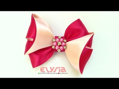 Easy But Awesome Ribbon Bow Tutorial | DIY by Elysia Handmade