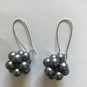 Grey Bead Earrings