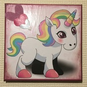 Hand Crafted unicorn canvas wall art
