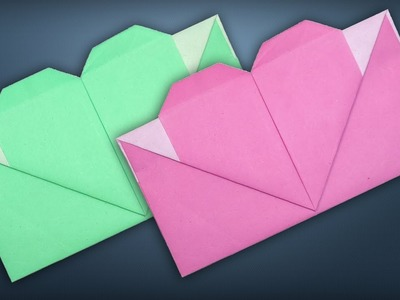 Heart Envelope Making - DIY Paper Envelope With Heart [Origami Tutorial] For Valentine's Day