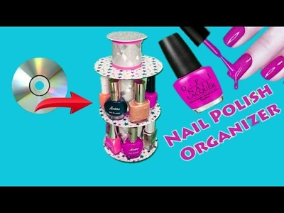 How can reuse old CD:RECYCLE OLD FEVICOL BOTTLE-NAILPAINT ORGANISER