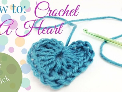 How to Crochet a HEART ♥ Easy tutorial for beginners