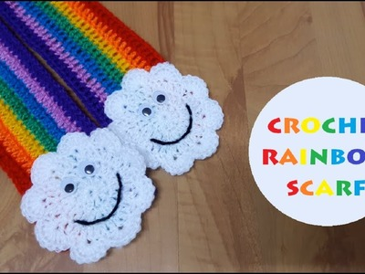 How to crochet a rainbow scarf? | !Crochet!