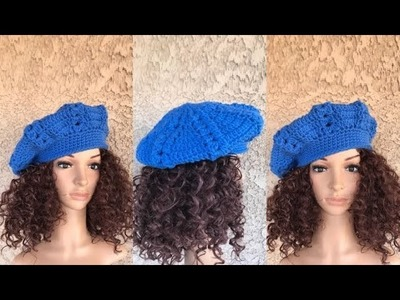 How to Crochet Beret Hat Pattern #663│by ThePatternFamily