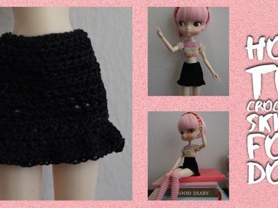 How To Crochet Easy Skirt For Doll ????