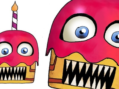 How to Draw Funtime Chica's Muffin (FNaF 6) Freddy Fazbear's Pizzeria Simulator