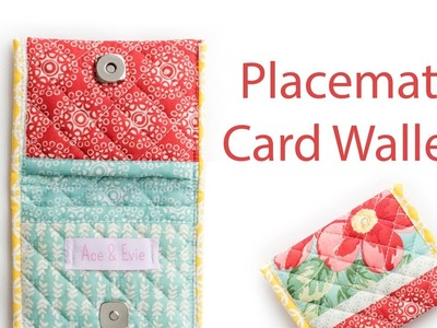How to make a Card Wallet from a Placemat