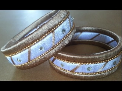 How to make Designer Double Colour  Silk Bangles || Double Colour Bangles || Making Tutorial