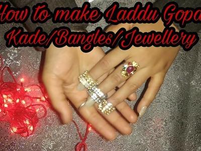 How to make laddu gopal.bal gopal banglas (kade) with stone chain